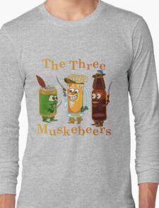 Funny Beer Pun Three Muskebeers Long Sleeve T-Shirt
