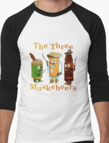 Funny Beer Pun Three Muskebeers Men's Baseball ¾ T-Shirt