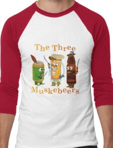 Funny Beer Pun Three Muskebeers Men's Baseball ¾ T-Shirt
