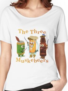 Funny Beer Pun Three Muskebeers Women's Relaxed Fit T-Shirt