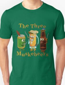 Funny Beer Pun Three Muskebeers T-Shirt