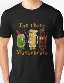 Funny Beer Pun Three Muskebeers Unisex T-Shirt