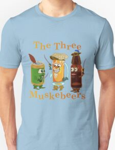 Funny Beer Pun Three Muskebeers Unisex T-Shirt