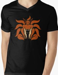 9 Tailed Shinobi Mens V-Neck T-Shirt