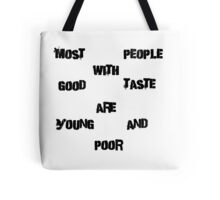 Iskybibblle / Wordz/ yOUNG and poor 2 Tote Bag