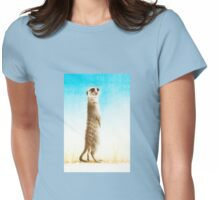 Meerkat Lookout Womens Fitted T-Shirt