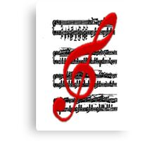 Music -  Art + Products Design  Canvas Print