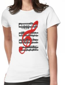 Music -  Art + Products Design  Womens Fitted T-Shirt
