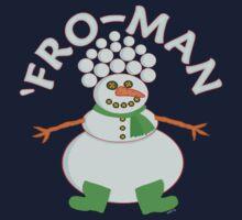 Funny 'Fro Snowman Christmas Kids Tee