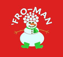 Funny 'Fro Snowman Christmas Unisex T-Shirt