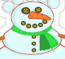 Funny 'Fro Snowman Christmas Sticker