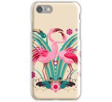 LOVE & FLAMINGO  iPhone Case/Skin