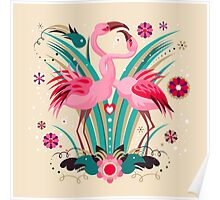 LOVE & FLAMINGO  Poster