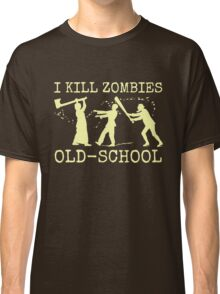 Funny Retro Old School Zombie Killer Hunter Classic T-Shirt