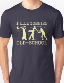Funny Retro Old School Zombie Killer Hunter T-Shirt