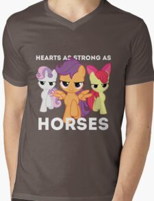 Hearts as strong as horses - CMC Mens V-Neck T-Shirt