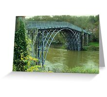 The Great Ironbridge Shropshire. Greeting Card