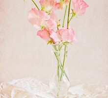Old Fashioned Sweet Peas by Sandra Foster