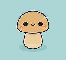 Kawaii mushroom by peppermintpopuk