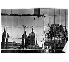 Reflection of the City, London, UK Poster