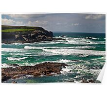 Cornish coastline Poster