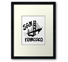 San Francisco, California Golden Gate Framed Print
