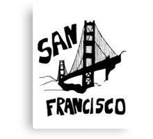 San Francisco, California Golden Gate Canvas Print