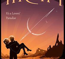 Titan Travel Poster by Mark A. Garlick
