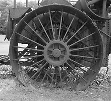 Old Wheel by Timothy  Ruf