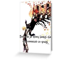 Kingdom Hearts Roxas memory Greeting Card