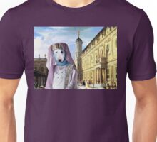 Bull Terrier Art - Renaissance Palace with young Princess Unisex T-Shirt