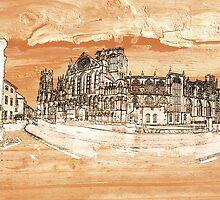 York Minster Panoramic on wood by Robert Gipson