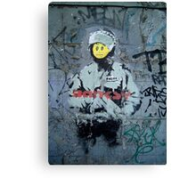 "Banksy ''Smiley Cop"" Canvas Print"
