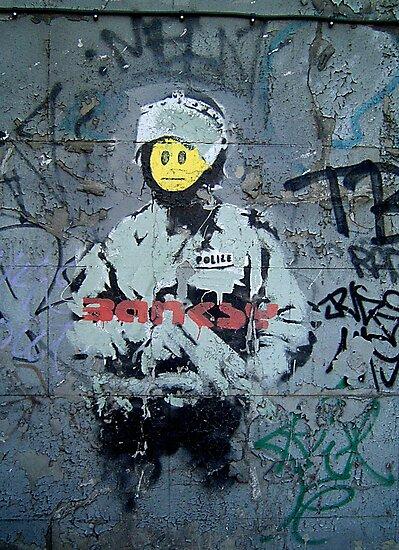 "Banksy ''Smiley Cop"" by Chris Steele"