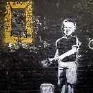 "Banksy ""Boy and Paint Brush"" by Chris Steele"