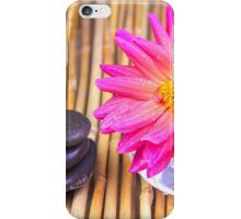 Tranquil Zen Stones And Dahlia iPhone Case/Skin