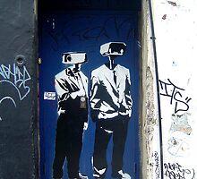 "D-Base ""CCTV Heads"" by Chris Steele"
