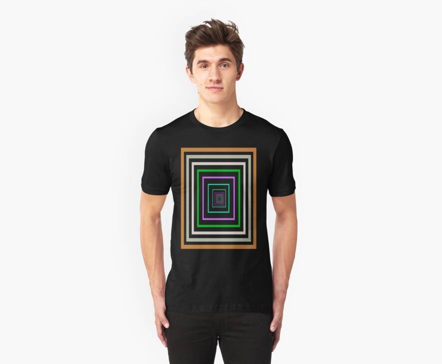 Square Labyrinth T-Shirt by simpsonvisuals
