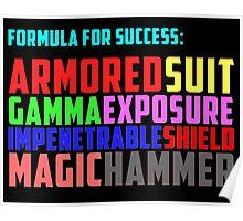 Avengers Formula for Success Poster