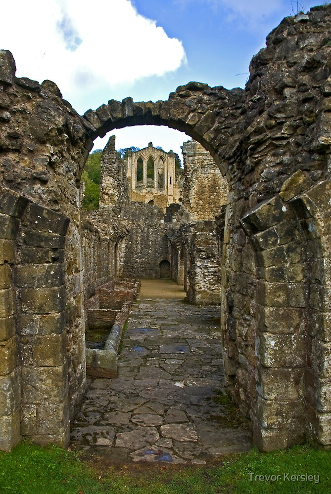 Through The Passageway - Rievaulx Abbey by Trevor Kersley