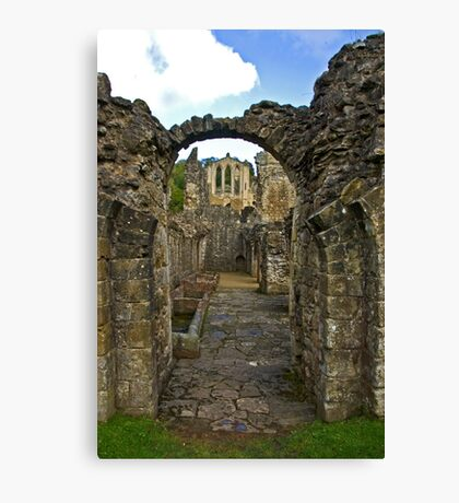 Through The Passageway - Rievaulx Abbey Canvas Print