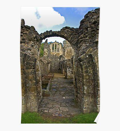 Through The Passageway - Rievaulx Abbey Poster