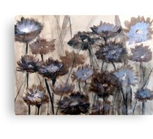 Wild Paper Daisies on brown paper Canvas Print