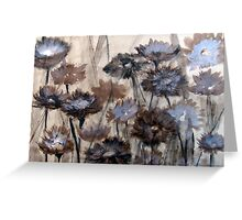 Wild Paper Daisies on brown paper Greeting Card