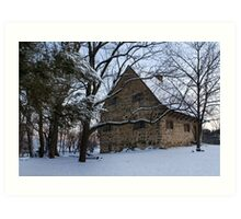 Rustic Winter Scene Art Print