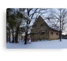 Rustic Winter Scene Canvas Print