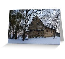 Rustic Winter Scene Greeting Card