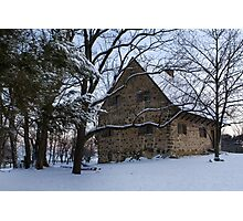 Rustic Winter Scene Photographic Print