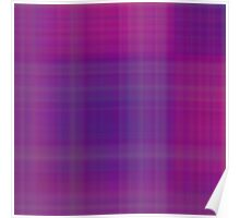 Rose-Violet Plaid Poster