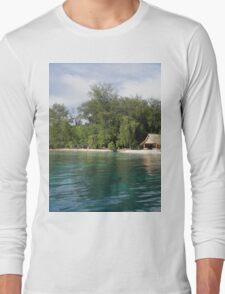 a desolate Solomon Islands landscape Long Sleeve T-Shirt